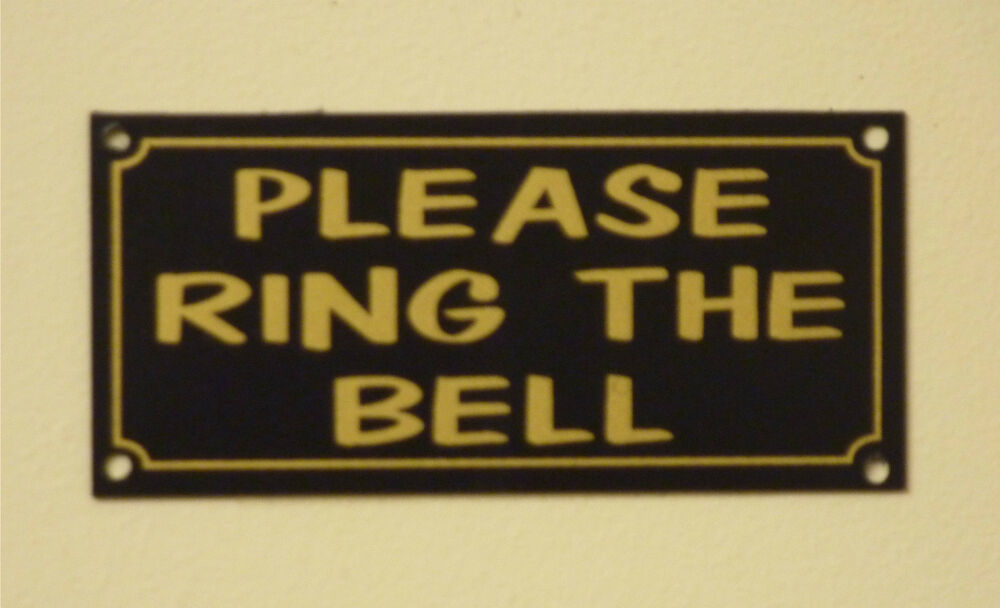 Please Ring The Bell House Garden Property Sign Sticker