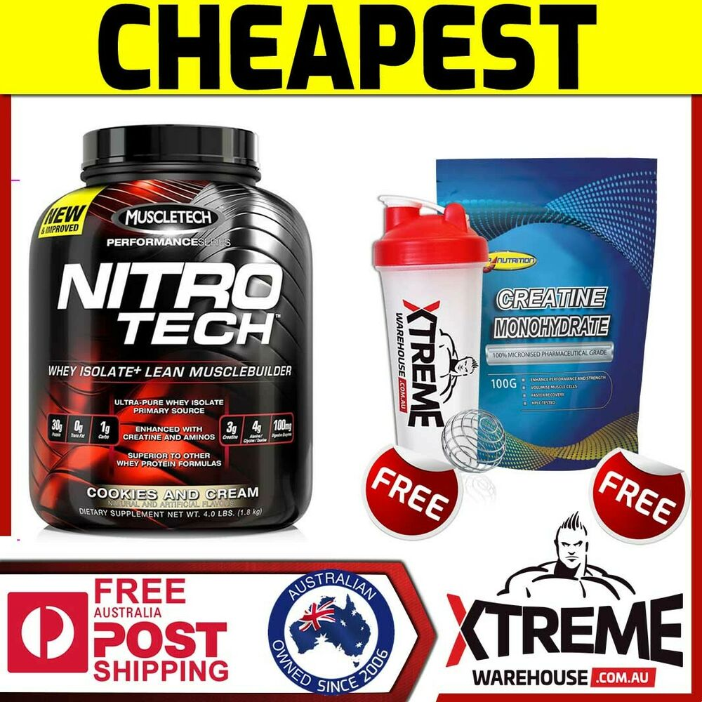 Muscletech Nitrotech 18kg Chocolate Nitro Tech Pro Series Whey 4 Lbs 4lbs Protein Isolate Ebay