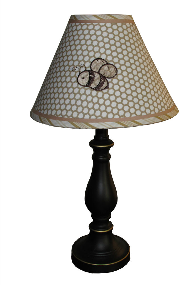 lamp shade bear and bee by sisi ebay. Black Bedroom Furniture Sets. Home Design Ideas