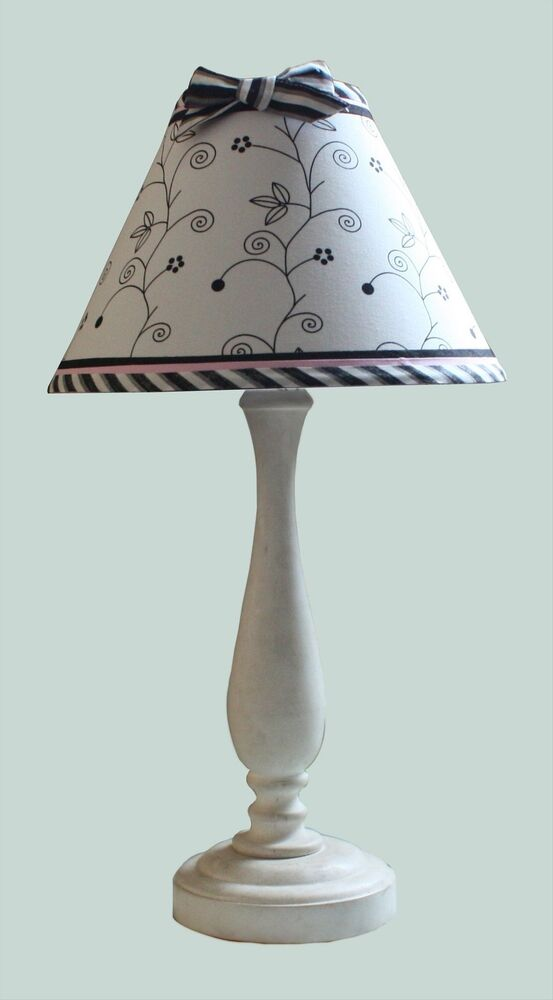 Black and White Toile Lampshade, Euro Fitting, Black Trim ...   Black And White Lamp Shades