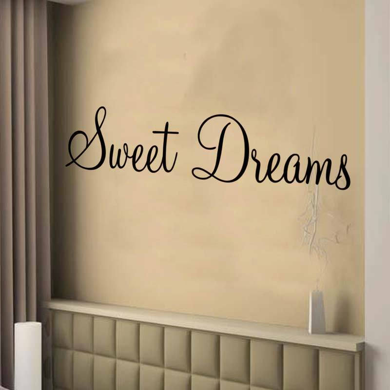 Sweet Dreams Wall Art Sticker Bedroom Decor Large Ebay