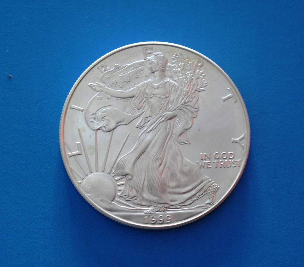 1999 American Silver Eagle Walking Liberty Coin 1oz 999