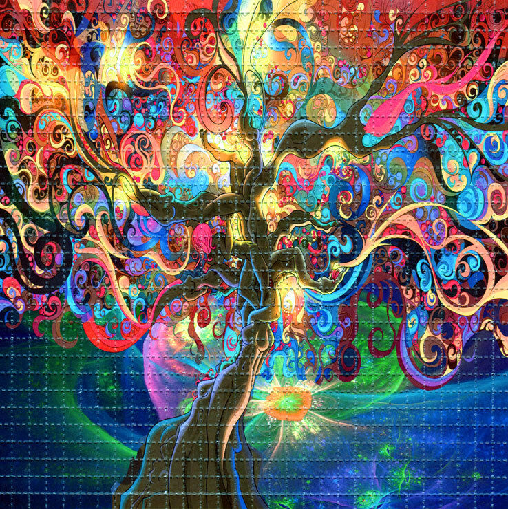 Tree of life blotter art perforated psychedelic ebay - Trippy acid pics ...