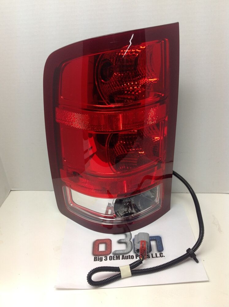 Tail Light Lens Assembly : Gmc sierra lh driver side tail lamp brake light assembly