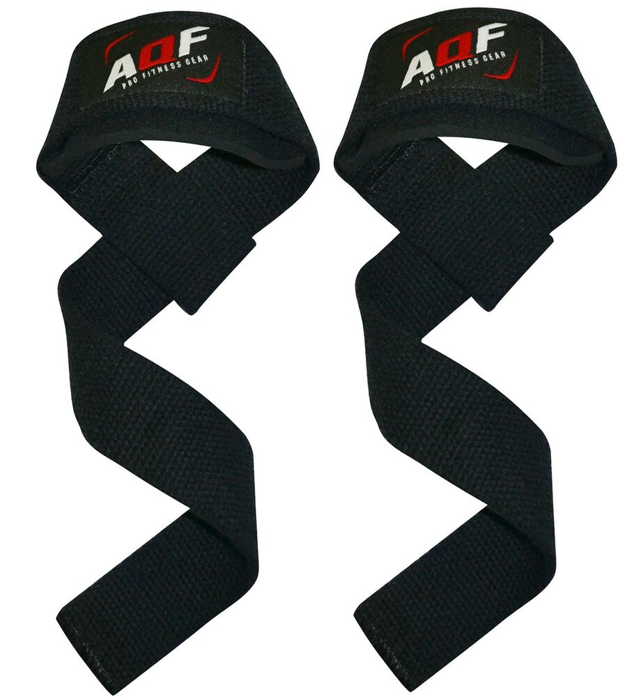 Weight Lifting Wrist Wraps Bandage Support Gloves Gym: AQF Padded Weight Lifting Training Gym Straps Hand Bar