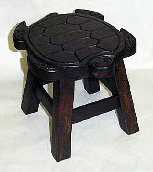 Footstools Sea Turtle Wooden Footstool Wood Stain