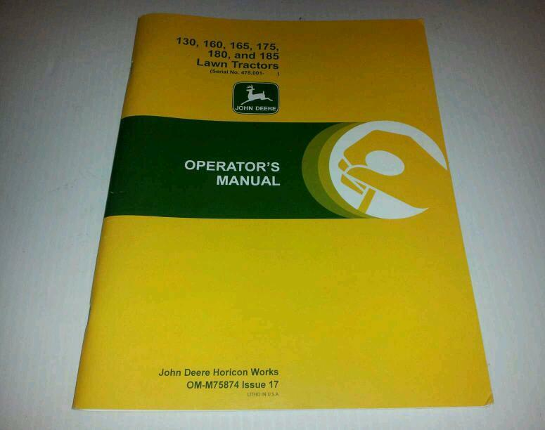 new john deere 130 160 165 175 180 185 operators manual ebay john deere 180 manual john deere 180 manual pdf