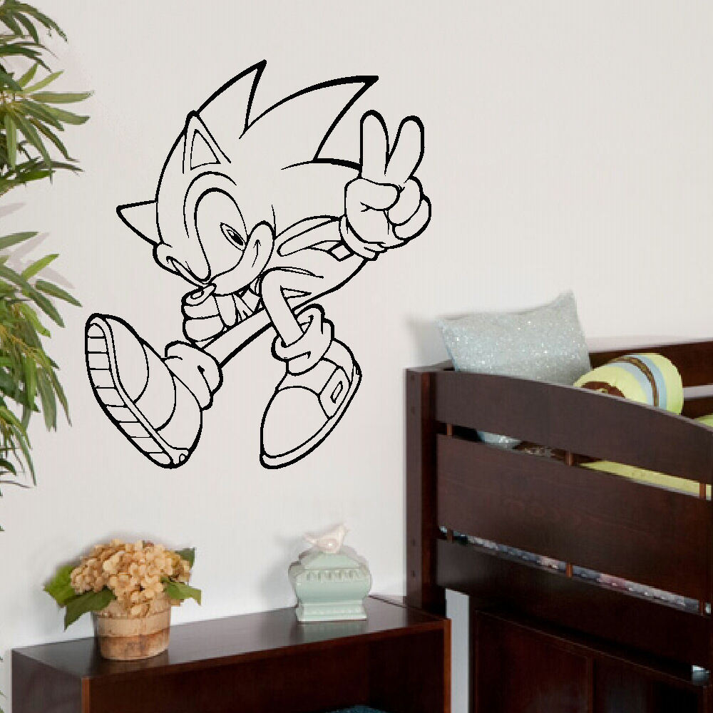 Large Wall Art Sticker Sonic The Hedgehog Transfer Decal Ebay