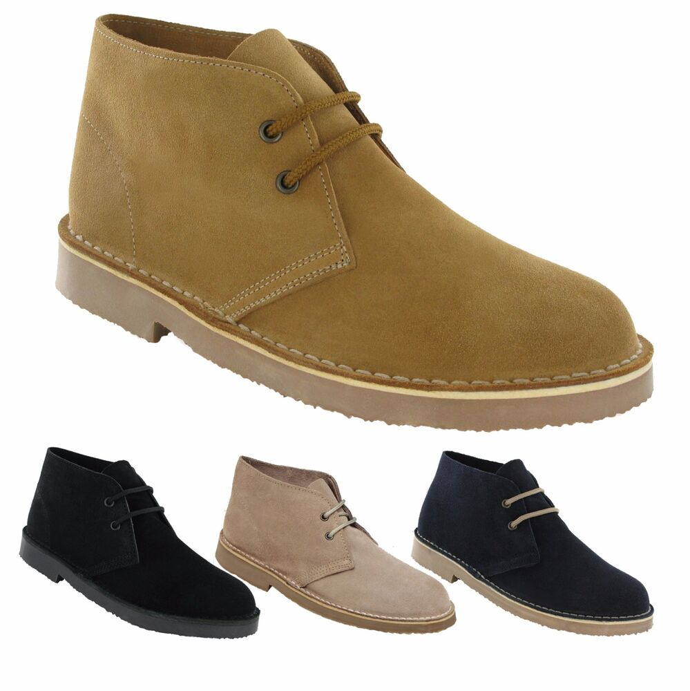 mens new suede leather desert boots shoes 3 12 ebay