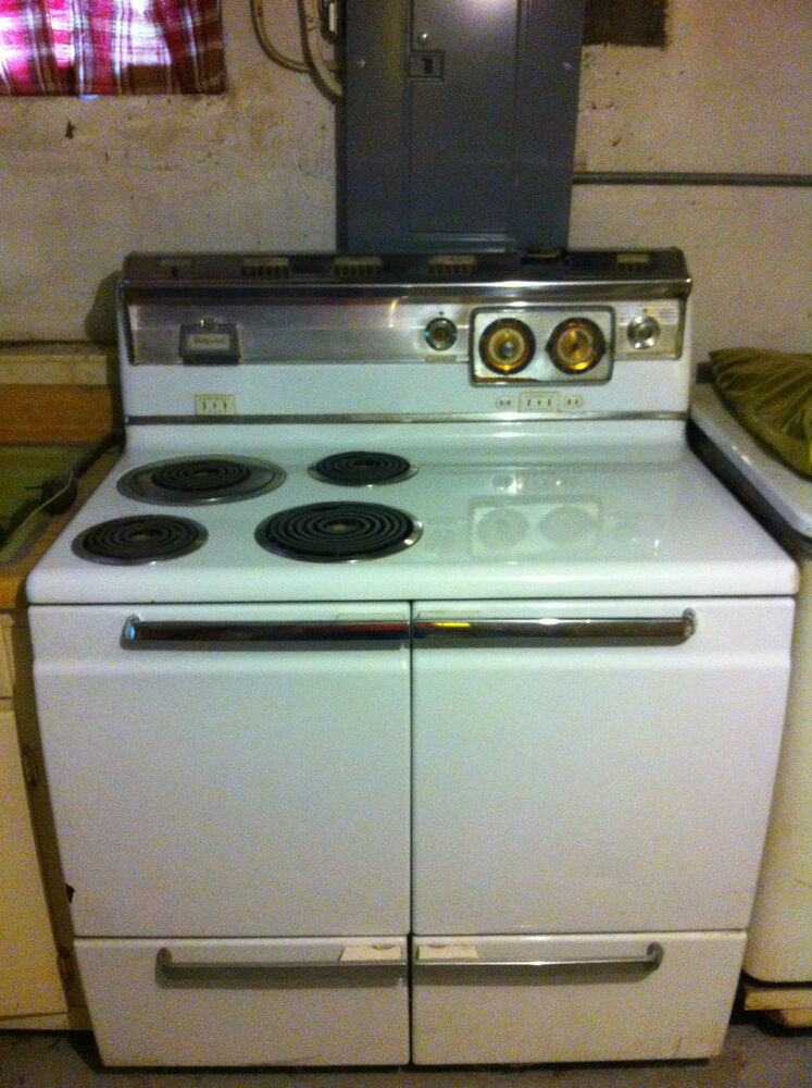 Vintage Electric Stove >> 1950s Vintage Hotpoint Electric Range Stove Oven w ...