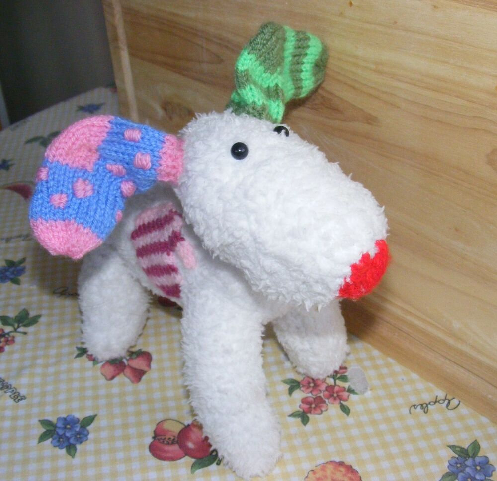 KNITTING PATTERN ONLY SNOW DOG SOFT TOY eBay