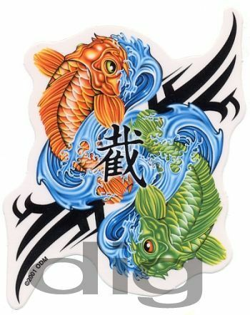 Pisces koi fish astrology yin yang symbol rare for Rare koi fish