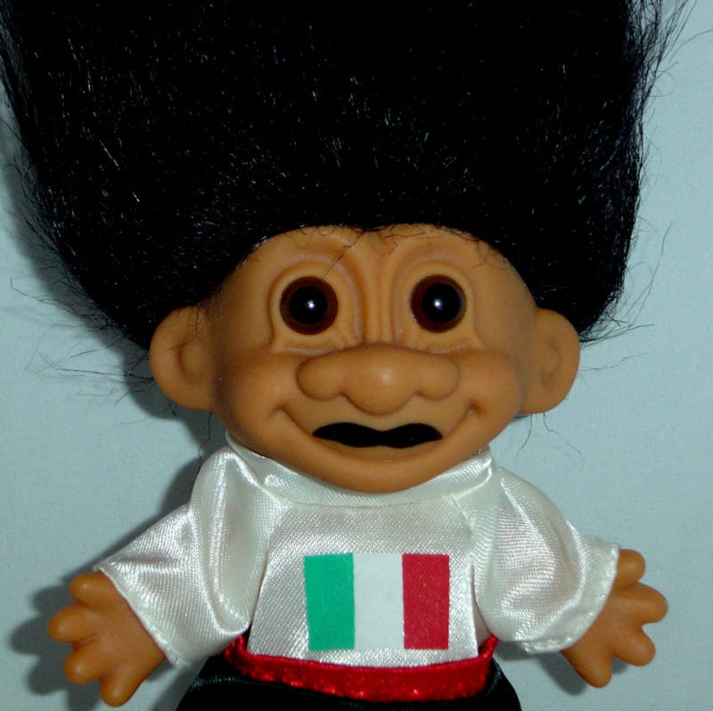 """ITALY Russ Troll Doll 5"""" Around The World VERY RARE New In"""