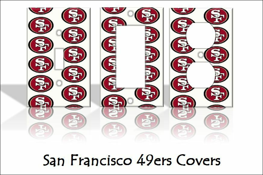 san francisco 49ers light switch covers football nfl home. Black Bedroom Furniture Sets. Home Design Ideas