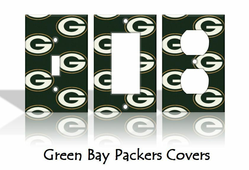 Green Bay Packers Light Switch Covers Football Nfl Home