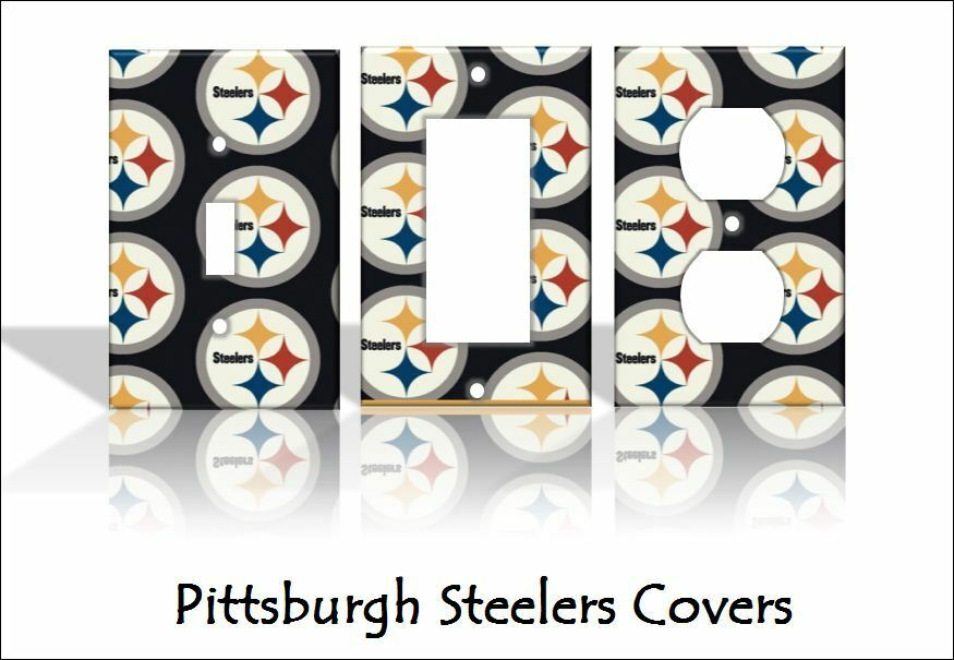 pittsburgh steelers light switch covers football nfl home