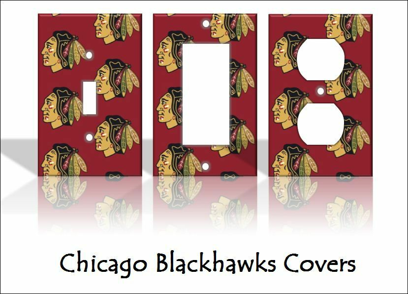 home decorators outlet chicago chicago blackhawks light switch covers hockey nhl home 11505