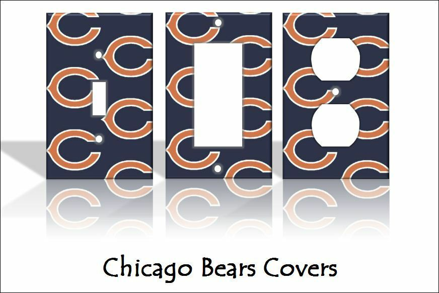 chicago bears light switch covers football nfl home decor outlet ebay