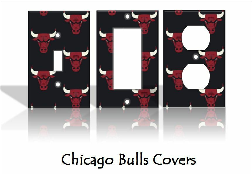 home decorators outlet chicago chicago bulls light switch covers basketball nba home 11505