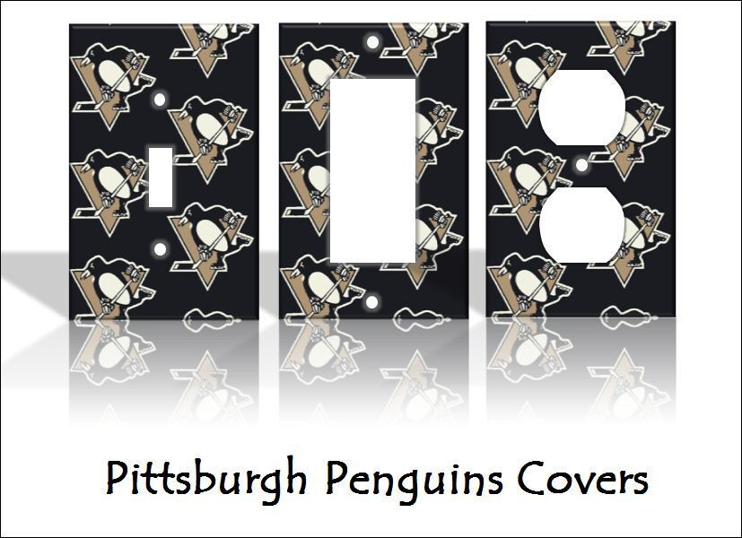 Pittsburgh penguins light switch covers hockey nhl home for Home decor outlet