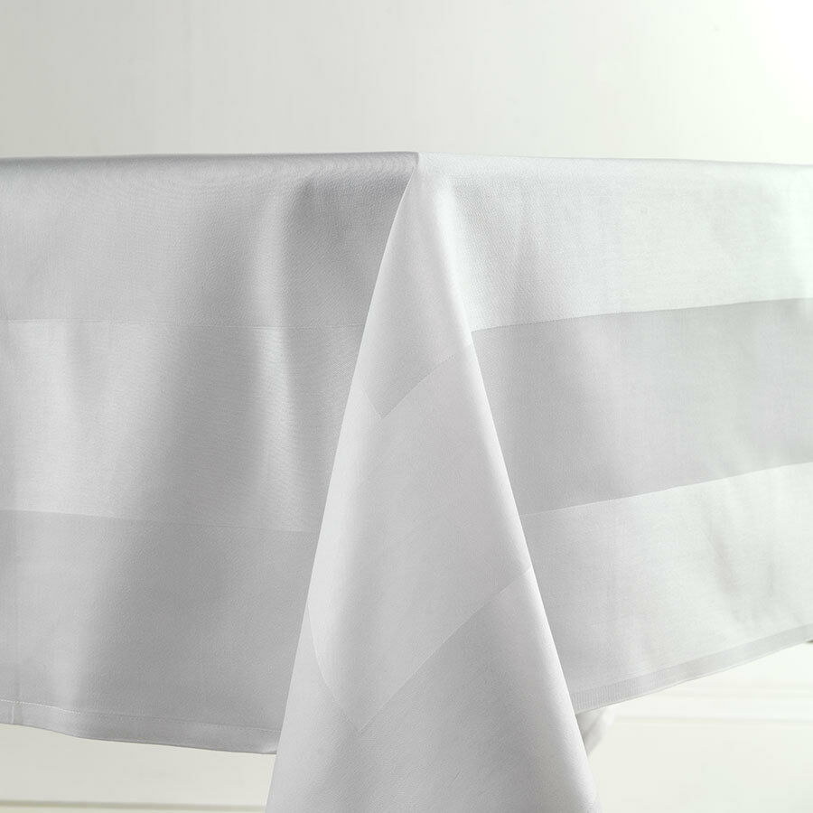 white 100 egyptian cotton tablecloth satin band damask