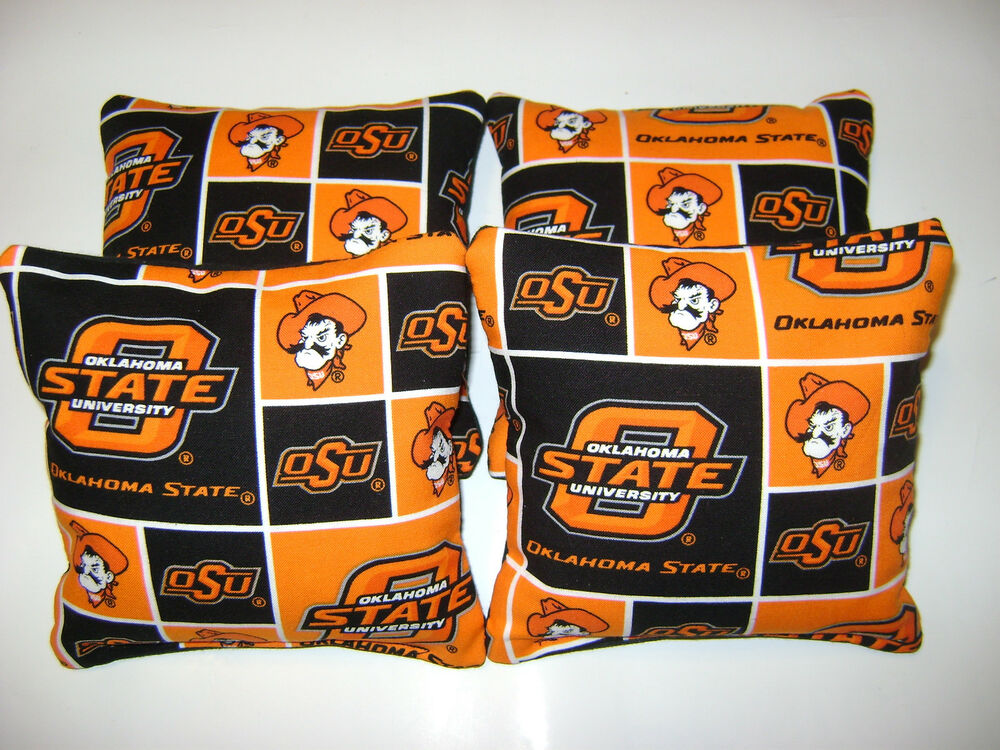 4 Oklahoma State Cowboys Cornhole Bean Bags Tailgate Toss