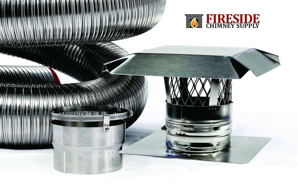 6 Quot X 15 316ti Stainless Steel Flexible Chimney Liner