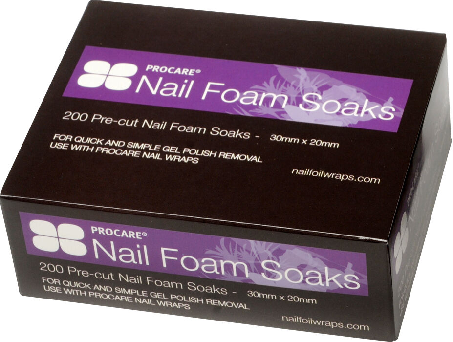 PROCARE Nail Foam Soaks 200pk Gel or Acrylic Nails Gelish for QUICK ...