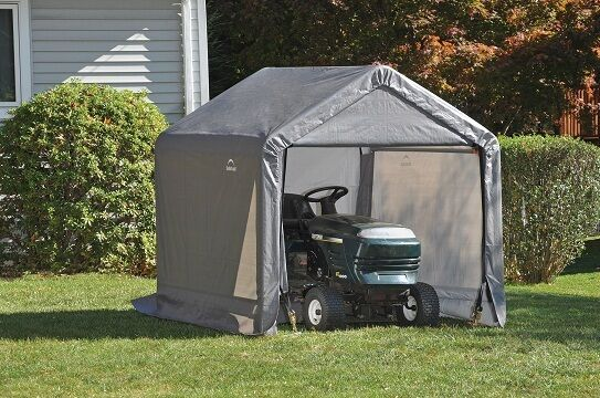 Portable Car Sheds : Shelterlogic x economy storage shed portable garage