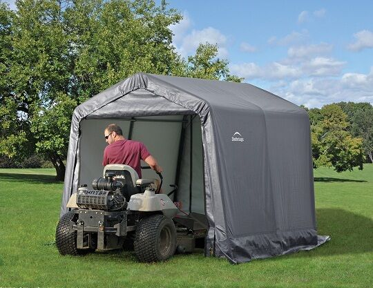 ShelterLogic 8x8x8 Peak Economy Storage Shed Portable ...