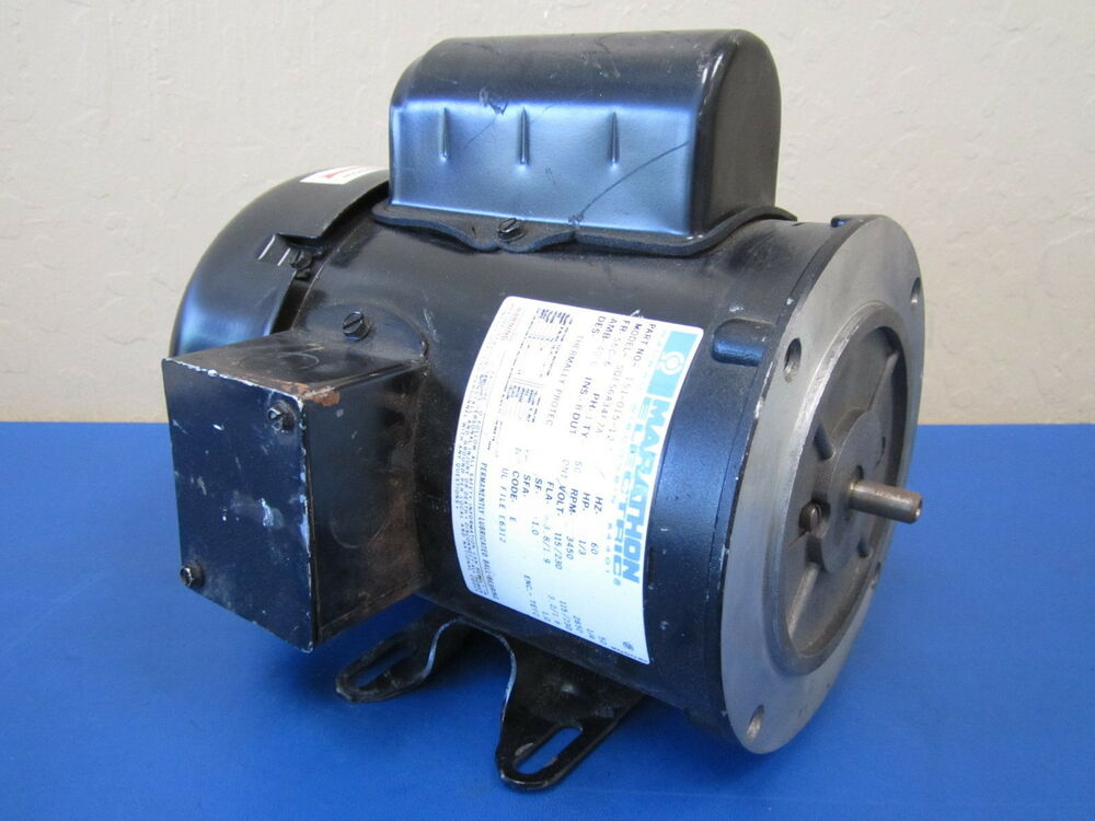 Marathon electric sqe56a34f7a 1 3 hp 3450 rpm 115 230v 1 for 3 hp single phase electric motor