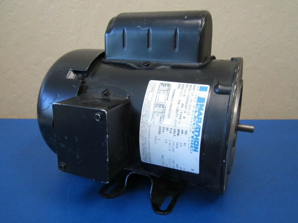 Marathon electric tqa56a34f7a 115 230v 1 3 hp 3450 rpm 1 for 3 hp single phase electric motor
