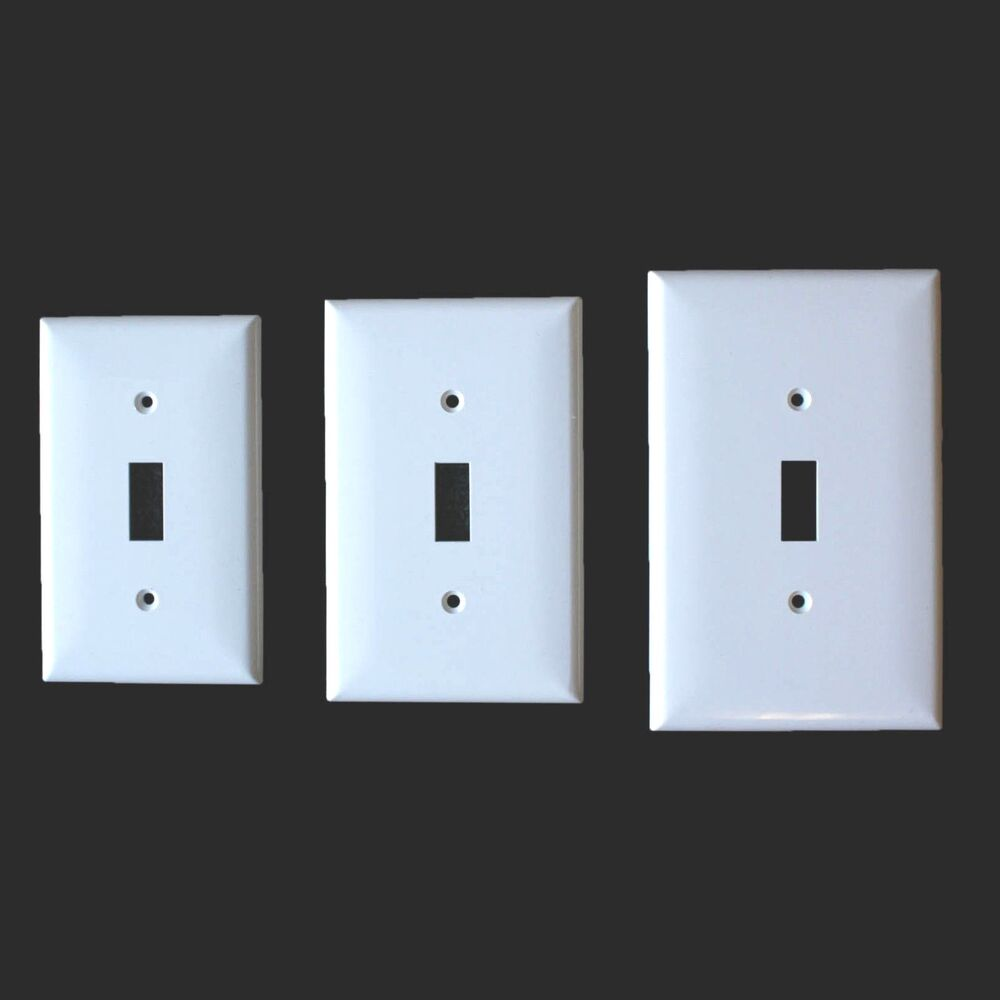 Metal Electrical Outlet Covers Oversized Outlet Covers: 10 Pack 1-Gang Standard, Mid Or Oversized Toggle Wall