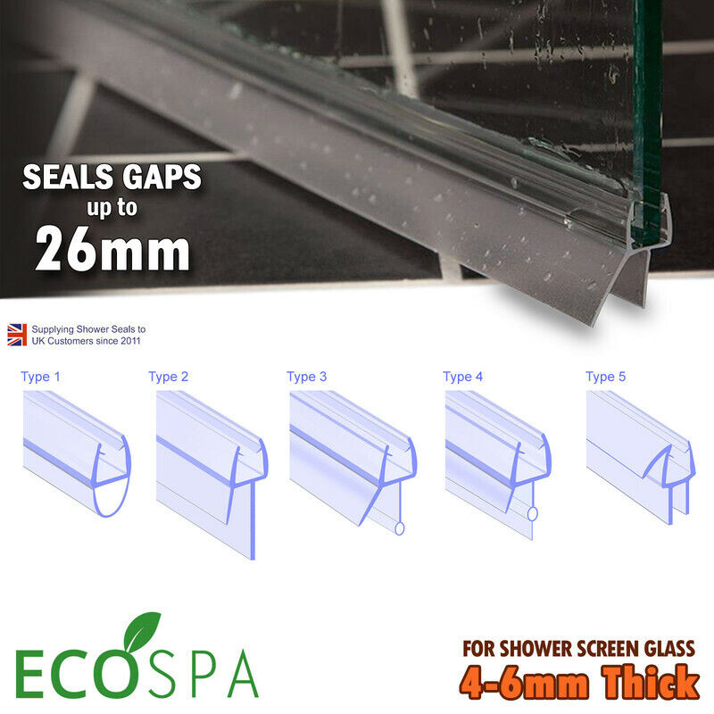 Bath Shower Screen Door Seal Strips For Glass Thickness