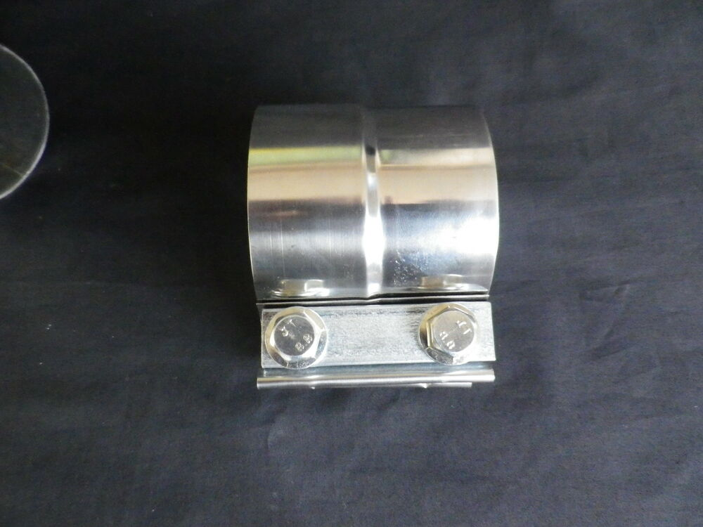 Stainless exhaust tubing step band clamps for inch pipe