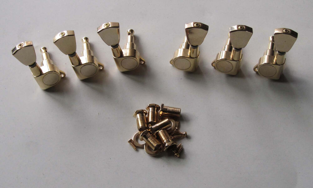 gold electric guitar tuners tuning keys machine heads for epiphone lp sg ebay. Black Bedroom Furniture Sets. Home Design Ideas