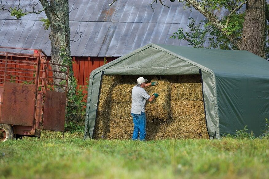Hay Truck Shelter : Peak shelterlogic hay storage livestock animal