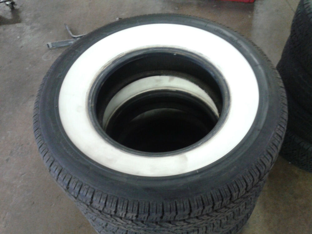 Four 235 75r15 Coker Classic Wide Whitewall Radial Tires No Reserve Ebay
