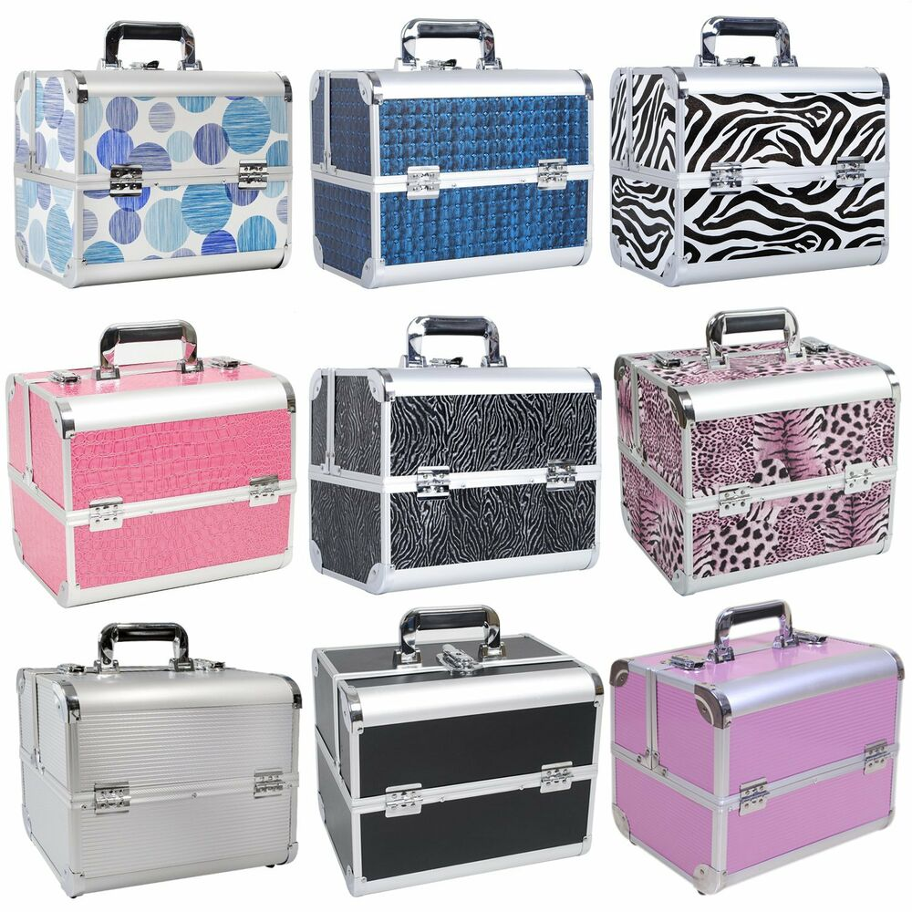 professional large vanity case make up box beauty nail cosmetic storage salon uk ebay. Black Bedroom Furniture Sets. Home Design Ideas