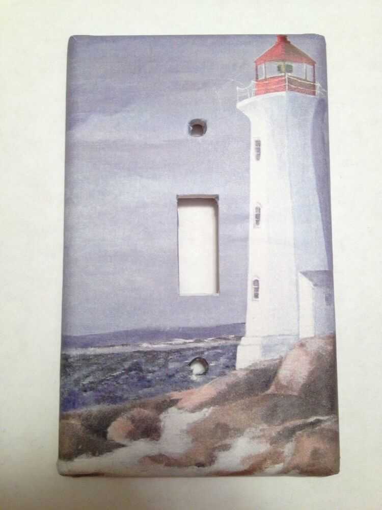 Lighthouse Beach Light Switch Covers Home Decor Outlet Ebay
