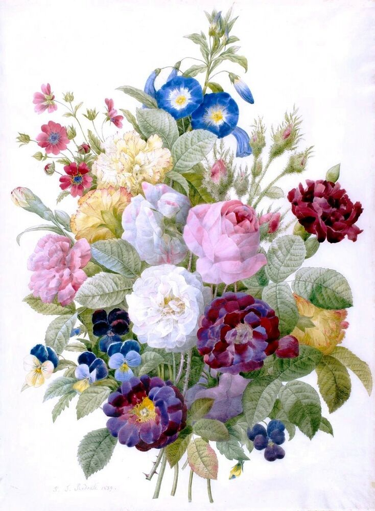 Bouquet of flowers counted cross stitch pattern 896 for Pictures of flowers bouquet