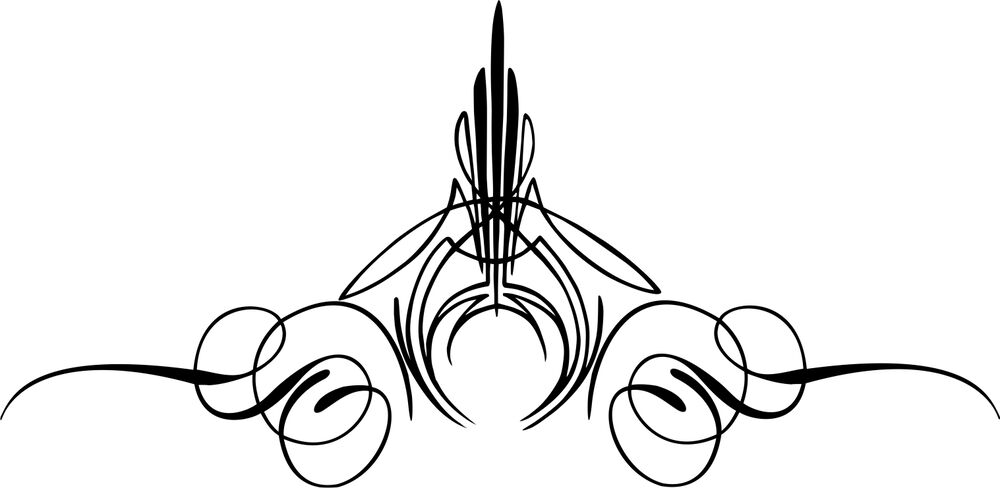 Custom Graphic Center Scroll Pinstriping Decal Pair Decals - Vinyl pinstripes for motorcycles
