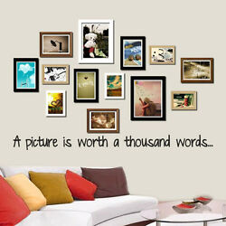 A Picture Is Worth A Thousand Words... Wall Sticker Decal Quote Vinyl Wording