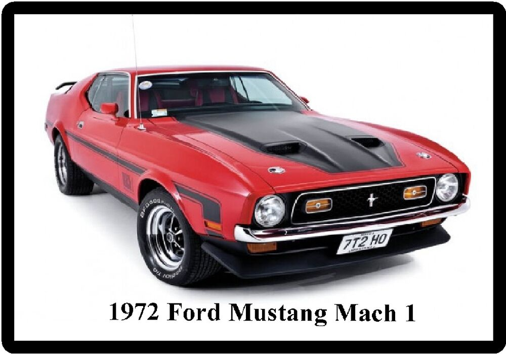 1972 ford red mustang mach 1 refrigerator magnet ebay. Black Bedroom Furniture Sets. Home Design Ideas