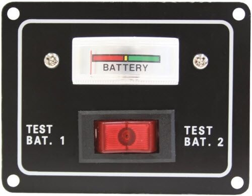 12v battery condition dual test meter gauge switch panel boat marine caravan 4x4 ebay. Black Bedroom Furniture Sets. Home Design Ideas