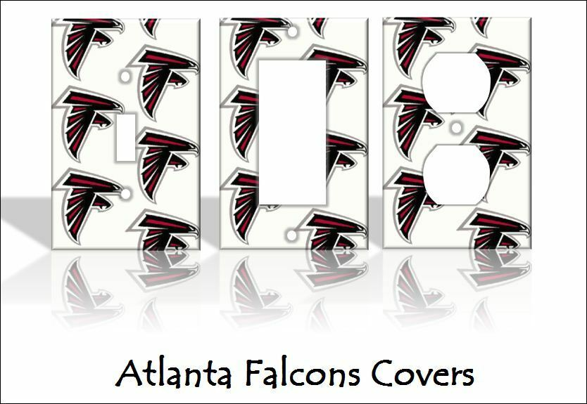 home decorators outlet atlanta atlanta falcons light switch covers football nfl home 11504
