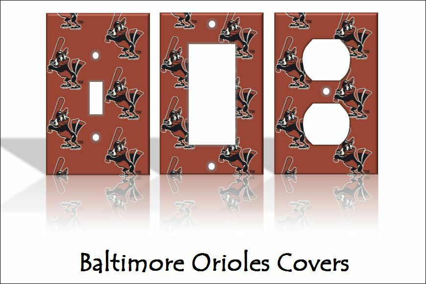 Baltimore orioles light switch covers baseball mlb home for Home decor outlet