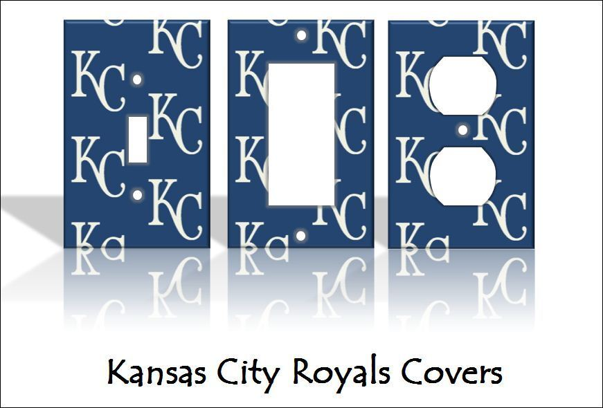 Kansas city royals light switch covers baseball mlb home for Home decor kansas city