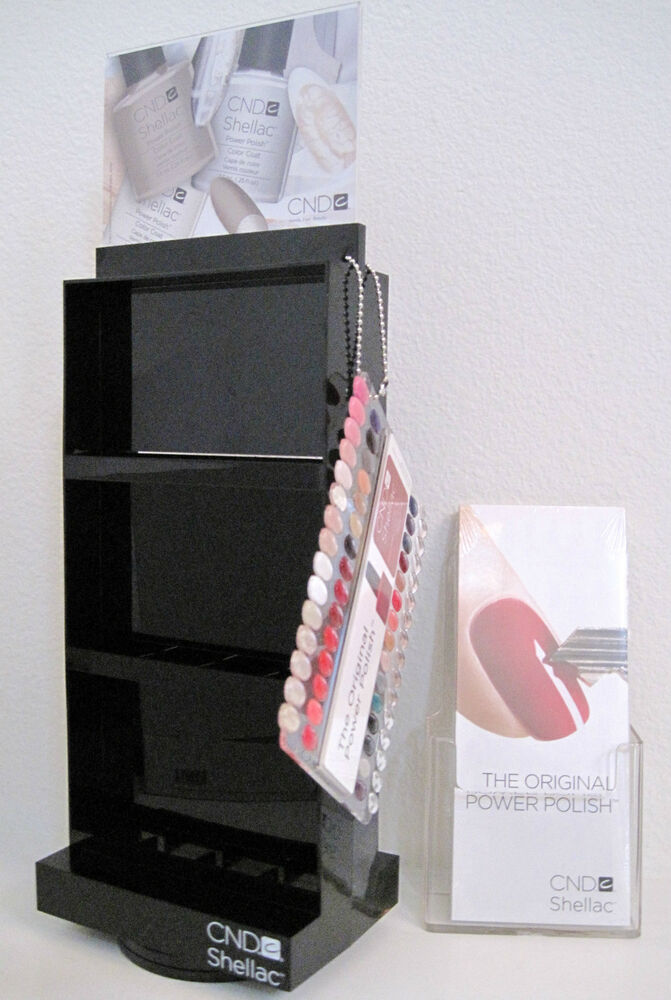 24 Shellac Nail Art Designs Ideas: CND SHELLAC SALON SPINNER RACK W/ COLOR CHART & PAMPHLETS