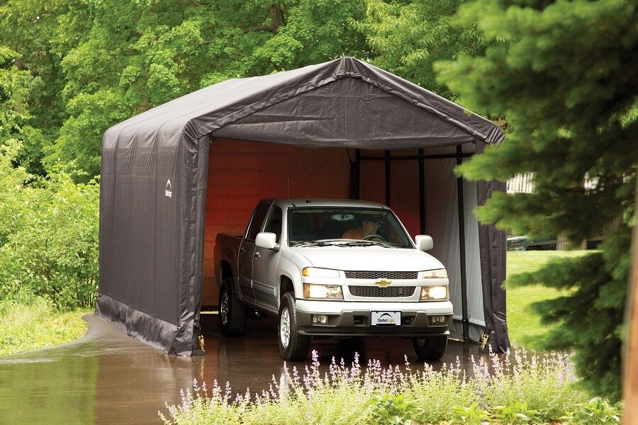 10x20 Portable Garage Replacement Cover : Shelterlogic square tube max strength portable